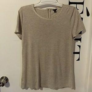 Ann Taylor satin trimmed t shirt